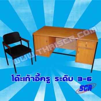 <h2>โต๊ะเก้าอี้ครู ระดับ 3-6</h2>